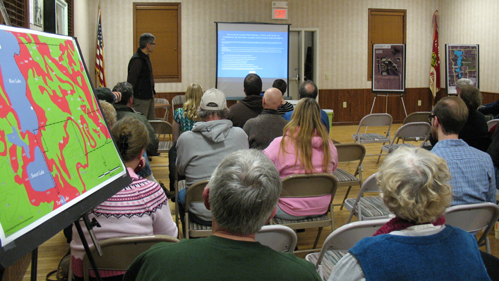 This is a picture of a Dane County Parks planning meeting for Silverwood Park in January 2014.