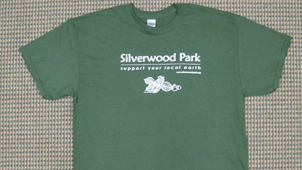 """This is a picture of Silverwood Park's """"Support Your Local Earth"""" t-shirt"""
