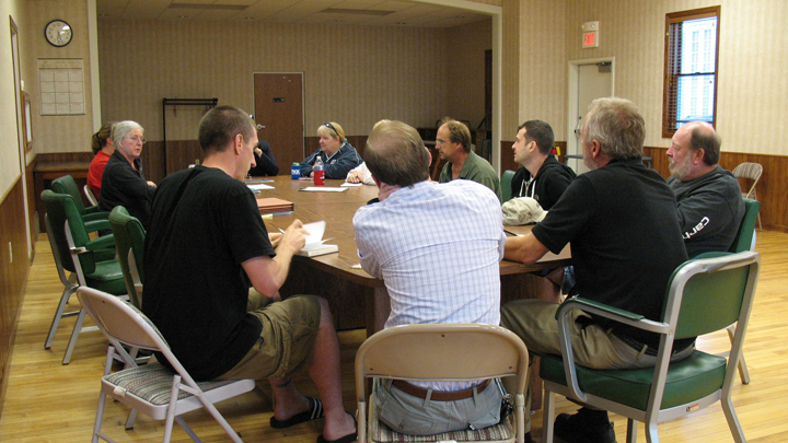This is a picture of an October 2013 FoSP Board meeting.