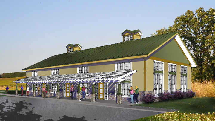 This is a picture of an education center envisioned for Silverwood Park in the future.
