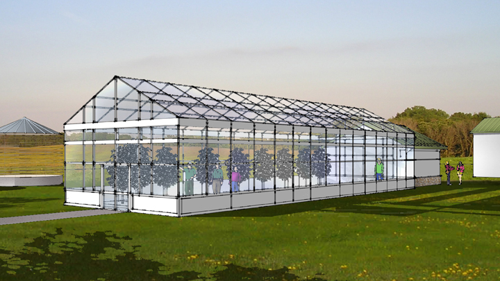 This is a picture of a greenhouse envisioned for Silverwood Park in the future.