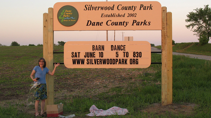 This is a picture of Silverwood Park's main entrance sign.