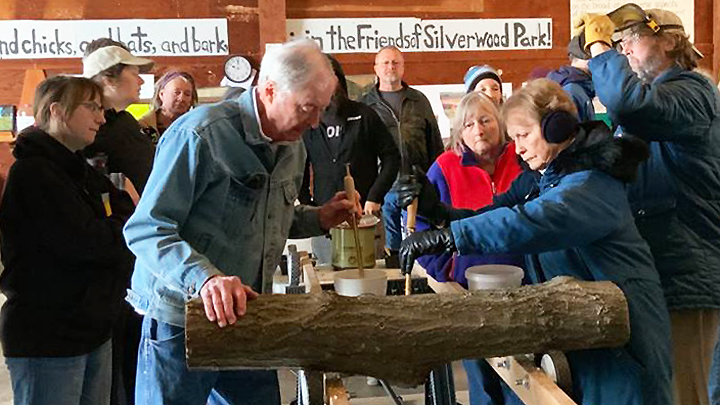 This is a picture of a 2019 mushroom workshop at Silverwood Park.