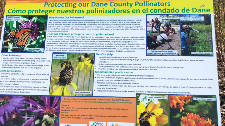 This is a picture of Silverwood's pollinator garden educational signage.