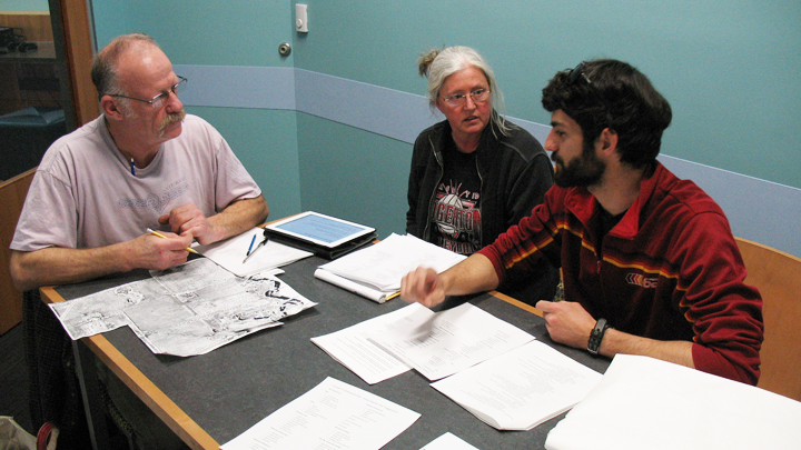 This is a picture of Friends volunteers working on the Park Master Plan.