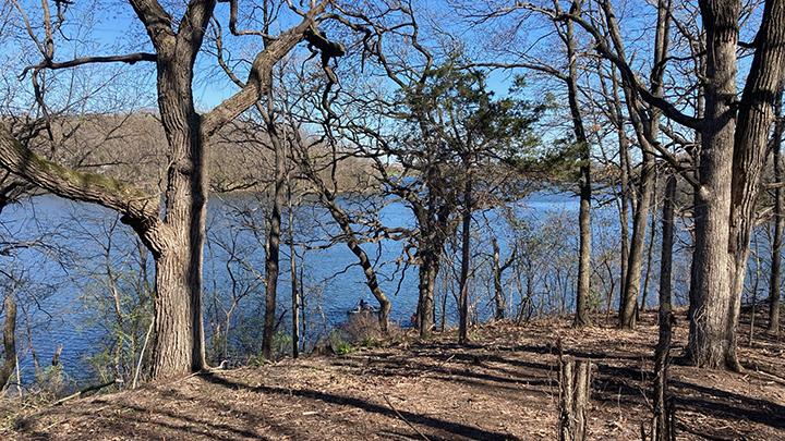 woods 2nd overlook after burn 4-25-21